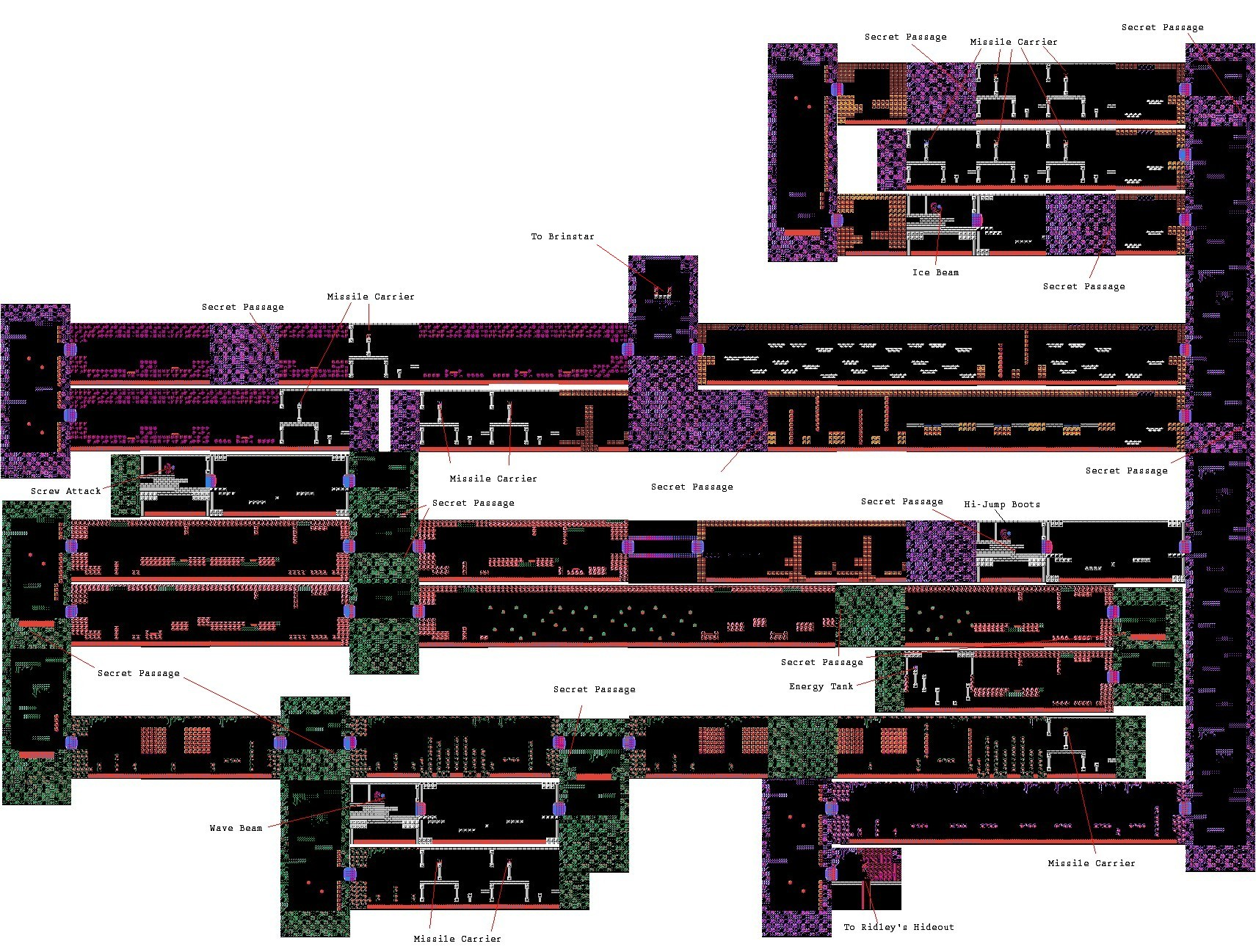 Metroid 1 Metroid Maps Jansenpricecom